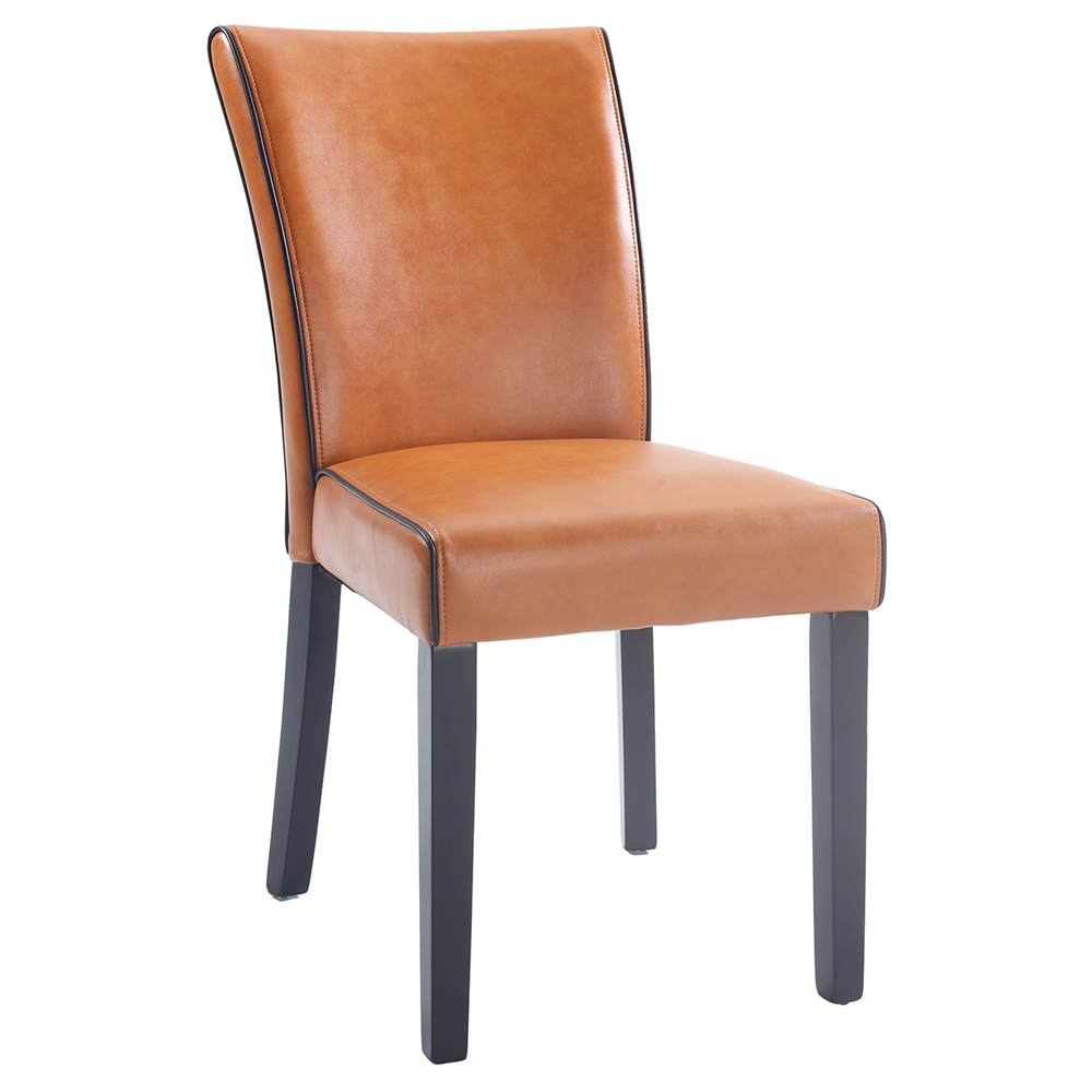 Michelle Parsons Chair Bonded Leather Orange Set Of 2