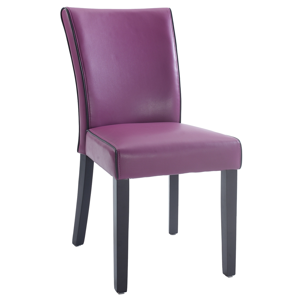 Michelle Parsons Chair Bonded Leather Purple Set Of 2