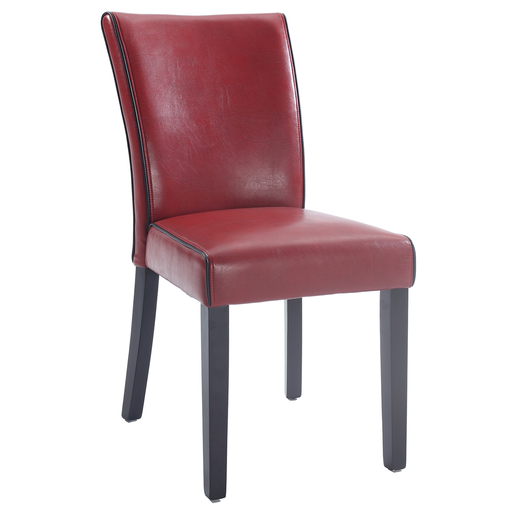 Michelle Parsons Chair Bonded Leather Red Set Of 2