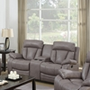 Modesto 3 Pieces Reclining Leather Air Sofa Set - Gray - CI-MODESTO-3PC