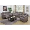 Modesto 3 Pieces Reclining Leather Air Sofa Set Gray
