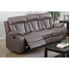 Modesto 3 Pieces Reclining Leather Air Sofa Set Gray Ci 3pc