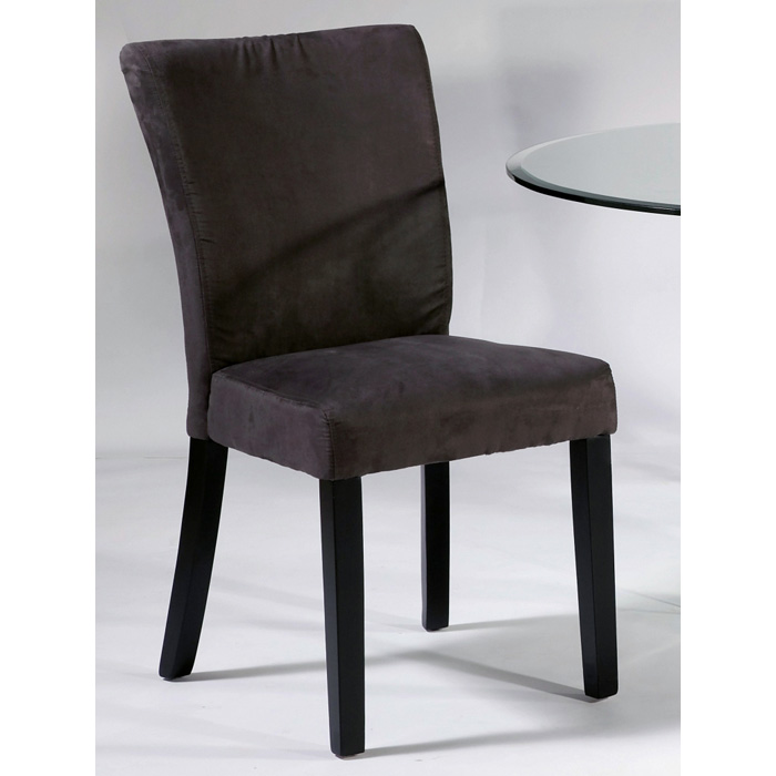 Monica Parsons Chair   Satin Black Legs, Gray Microfiber   CI MONICA PRS ...