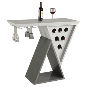 Mulberry Double Triangle Home Bar - Wine Rack, Gray