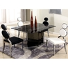 Oprah Dining Table - Marble Top, Two Tone Base | DCG Stores