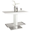 Orchard Rectangular Bar Table - White, Polished Stainless Steel - CI-ORCHARD-BAR