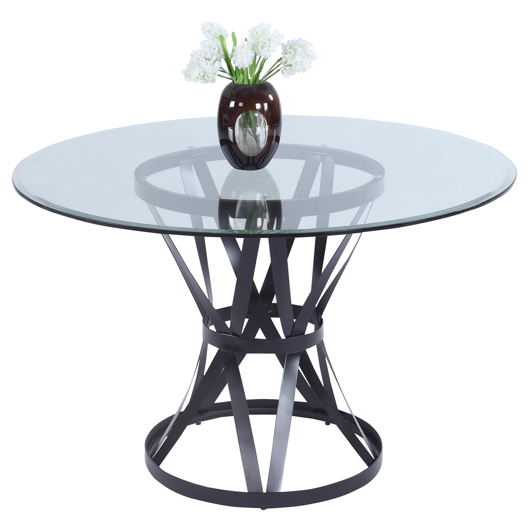 Pandora Round Dining Table Glass Top Matt Black Base  : pandora dt from www.dcgstores.com size 500 x 500 jpeg 85kB