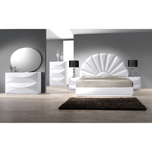 Paris 4 Pieces Bedroom Set - Gloss White