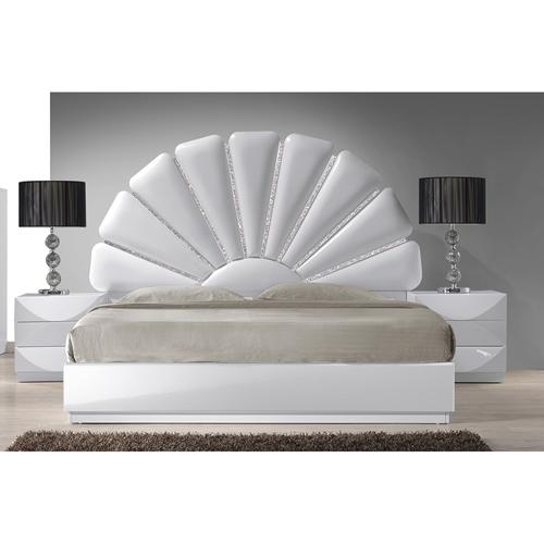 Paris Headboard Upholstered Gloss White Dcg Stores