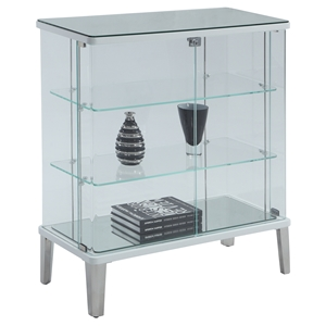 Riley Buffet Curio - Clear Glass, White
