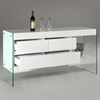 Sofia Buffet Table with Glass Side Panels - CI-SOFIA-BUF