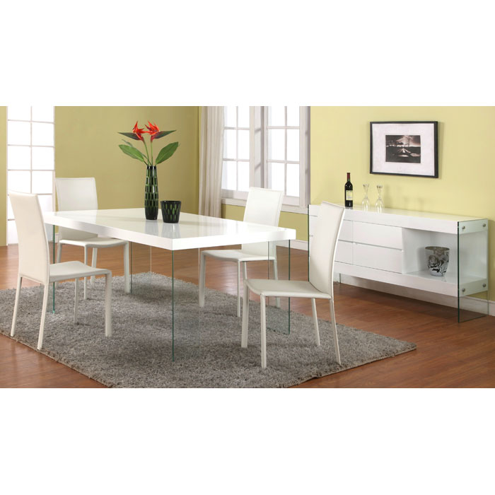 Sofia Fully Upholstered White Side Chair - CI-SOFIA-SC