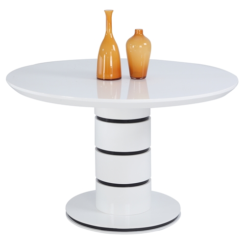 Stephanie Dining Table Pedestal Base White Dcg Stores