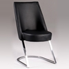 Tami Side Chair - Black, Chrome Cantilever Base - CI-TAMI-SC