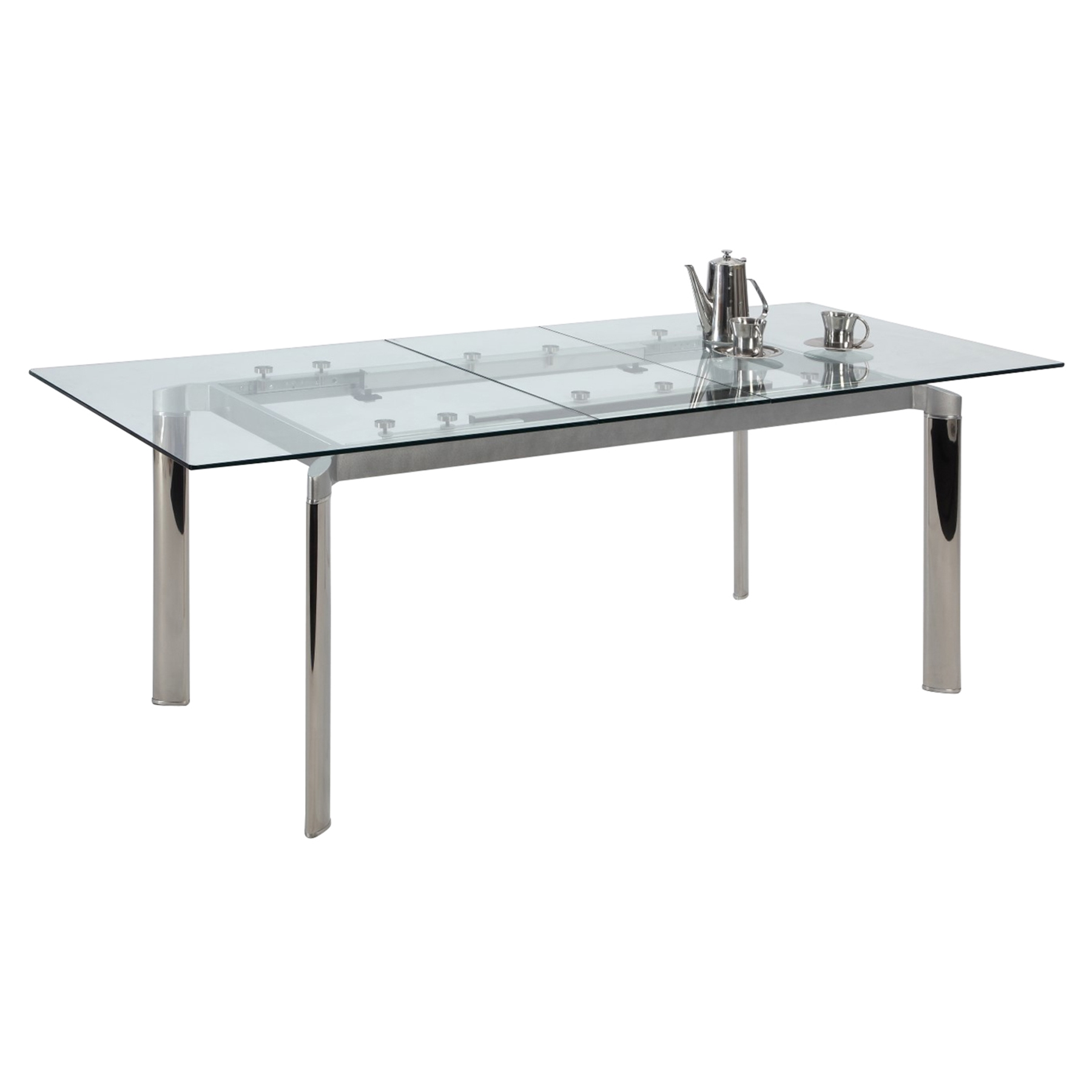 Tara Pop Up Extension Dining Table Clear Dcg Stores