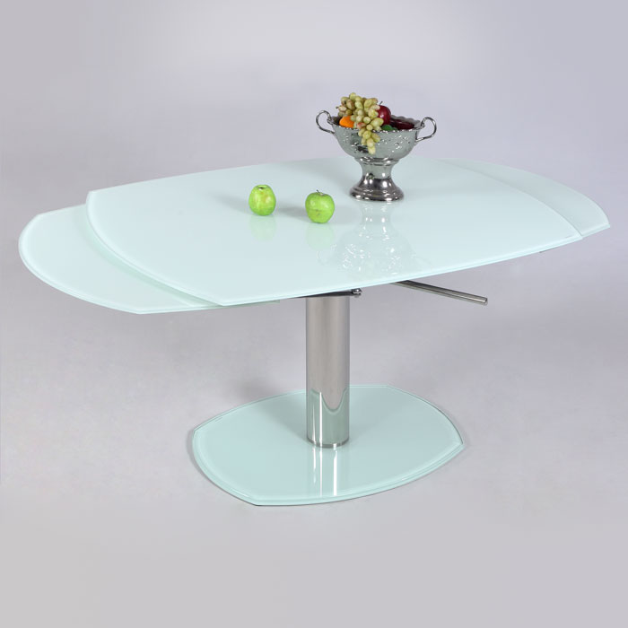 Dining Table With Three Extension Leaves And Six Matching: Tasha Contemporary Dining Table