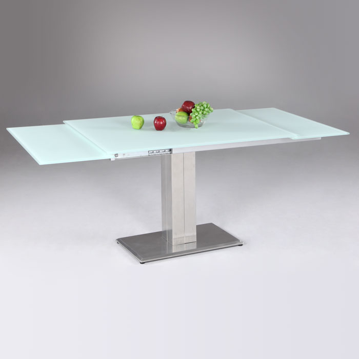 ... Tatiana Extending Dining Table   White Frosted Glass   CI TATIANA DT ...
