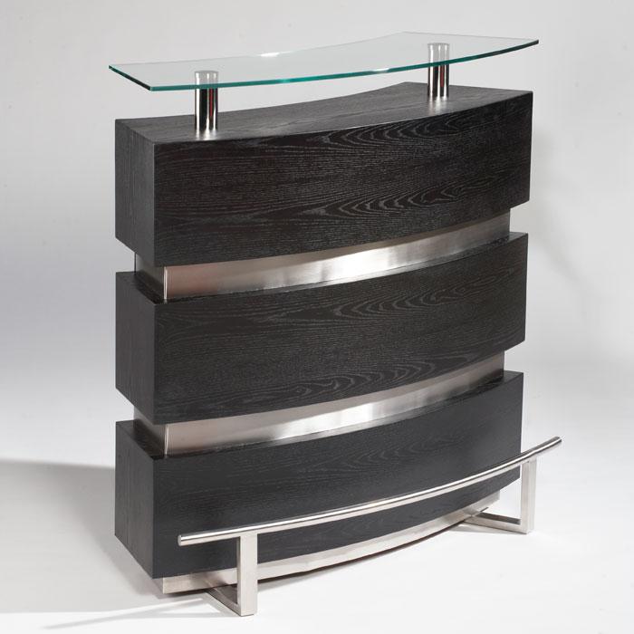 Entertainment Bar Furniture: Xenia Contemporary Arched Bar
