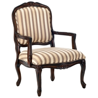 Hayward Striped Chenille Accent Chair