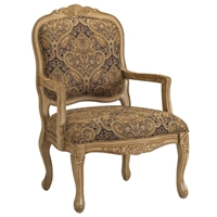 Livingston Accent Chair in Biscotti Finish
