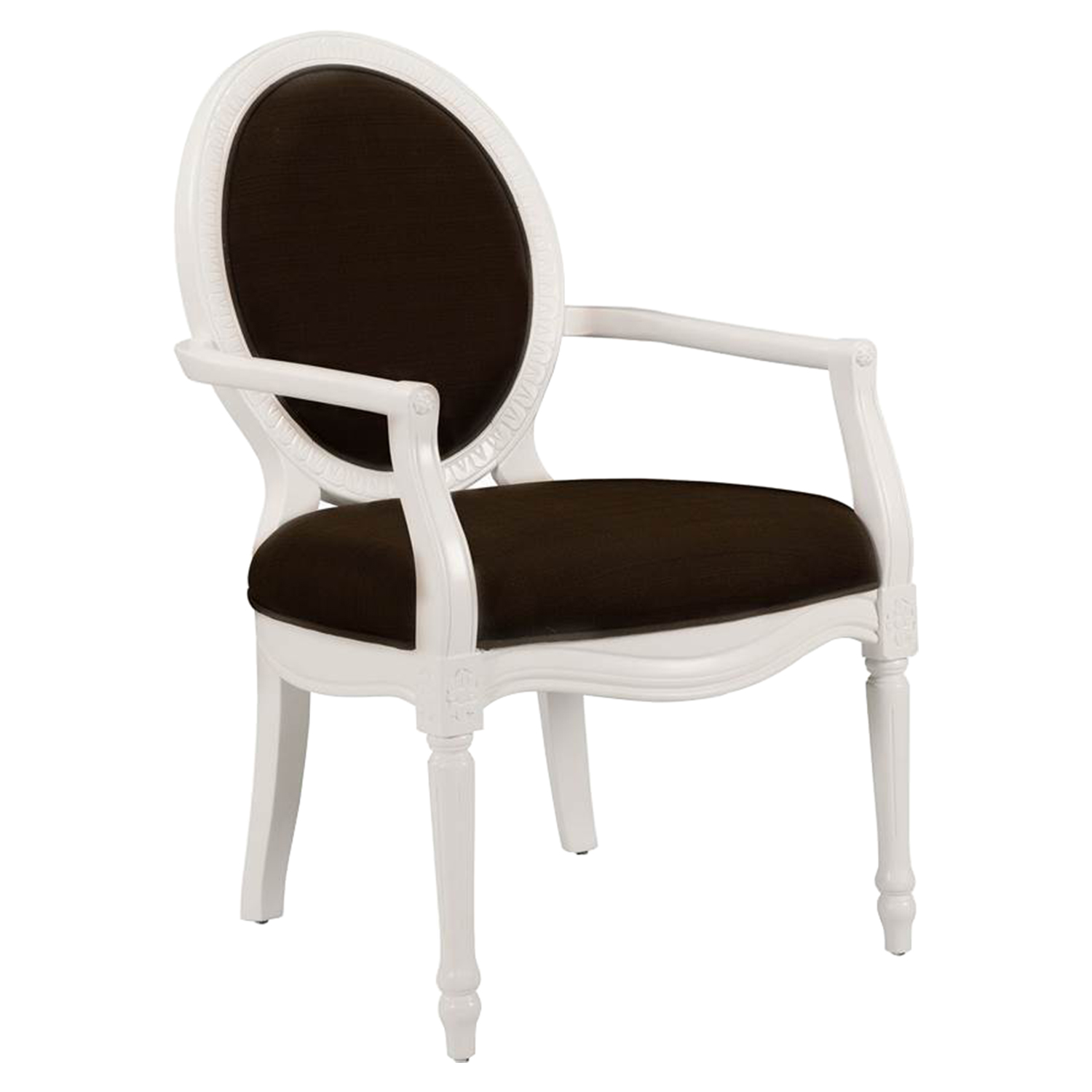Madison Accent Chair - Truffle, White