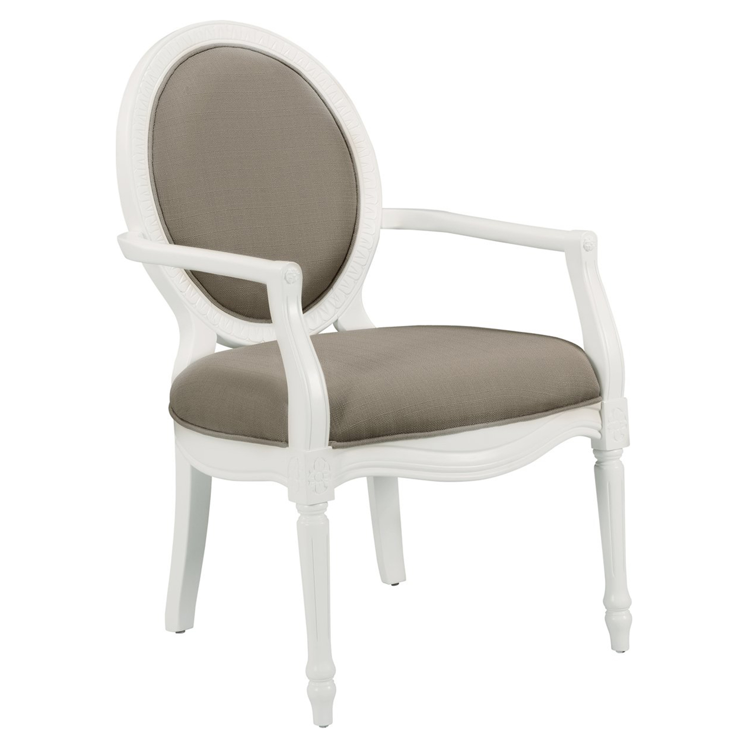 Madison Accent Chair - Taupe, White