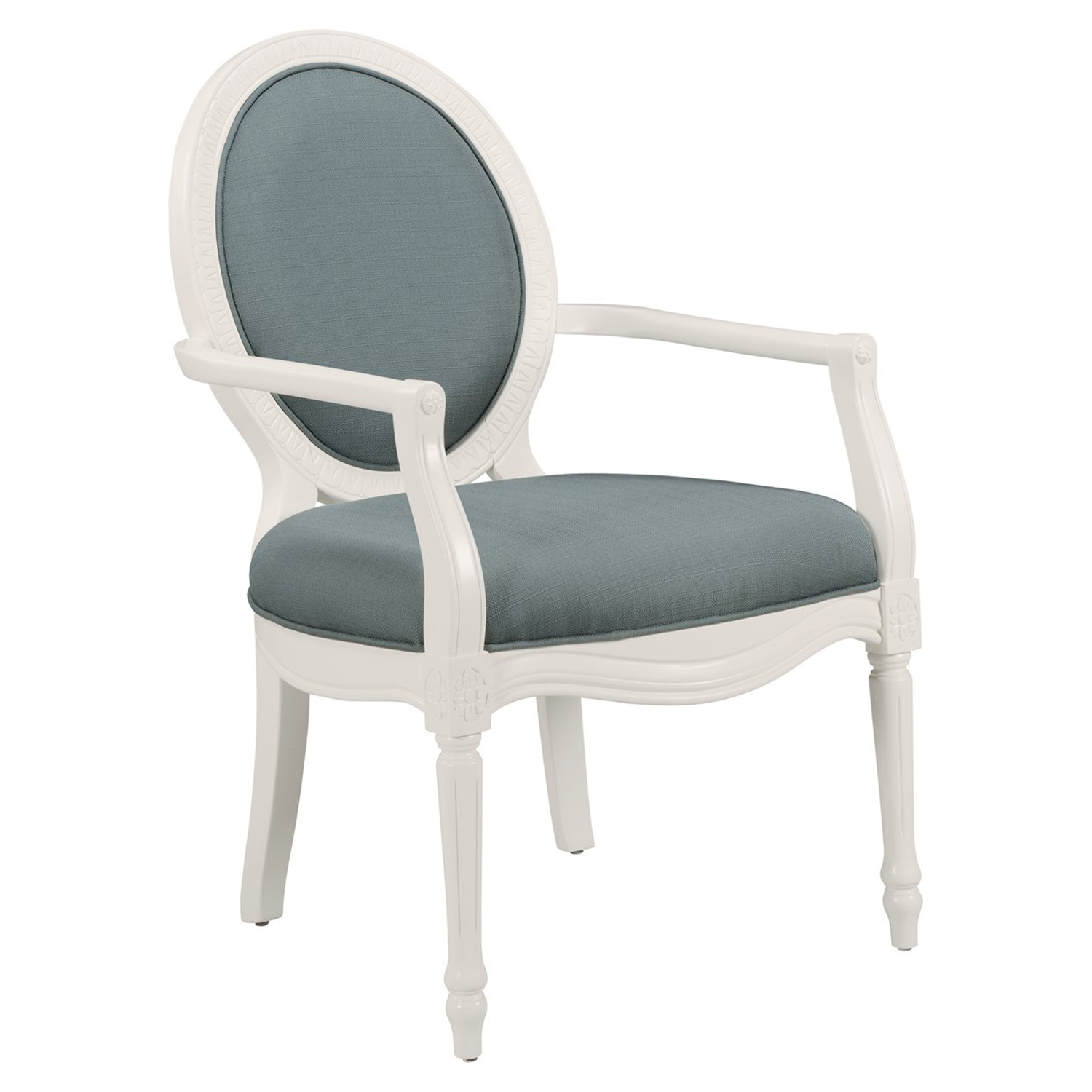 Madison Accent Chair - Rain, White