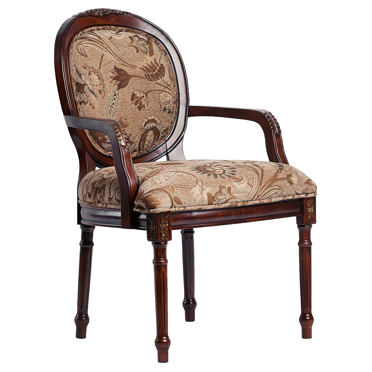 Belmont Accent Chair With Floral Chenille Seat And Back DCG Stores