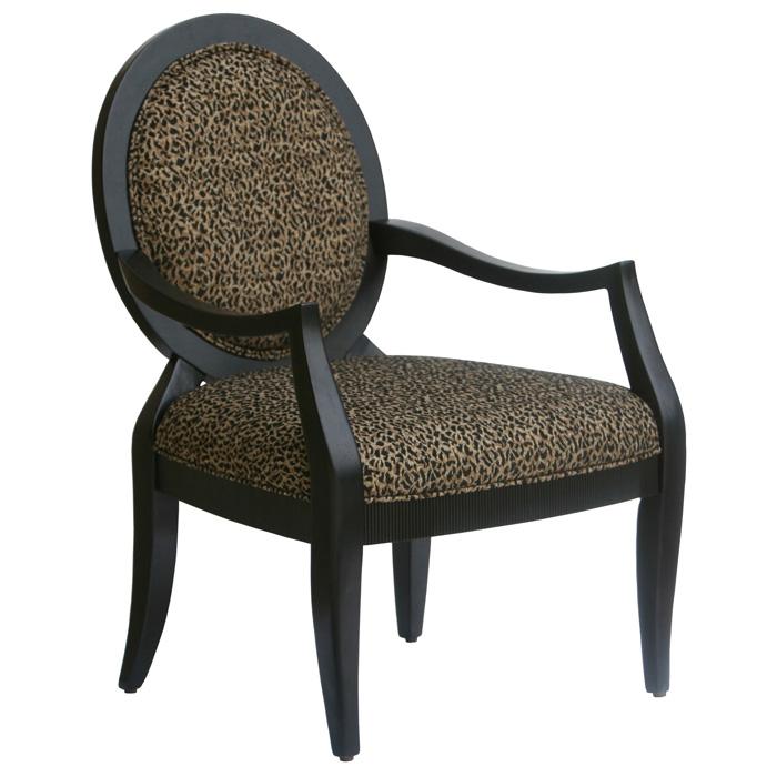 lenox leopard print chenille accent chair dcg stores