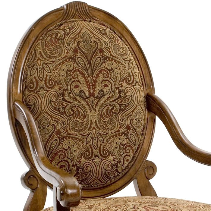 Clark Fruitwood Accent Chair With Hand Carved Accents