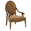 Clark Fruitwood Accent Chair with Hand Carved Accents - CP-130-01