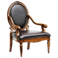 Hadley Leather Seat and Back Accent Chair
