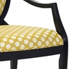 Hannah Polka Dot Print Accent Chair - CP-132-02