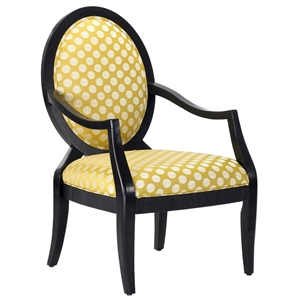 Hannah Polka Dot Print Accent Chair