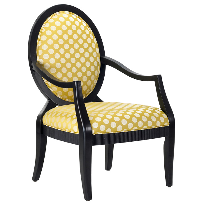 Hannah Polka Dot Print Accent Chair | DCG Stores
