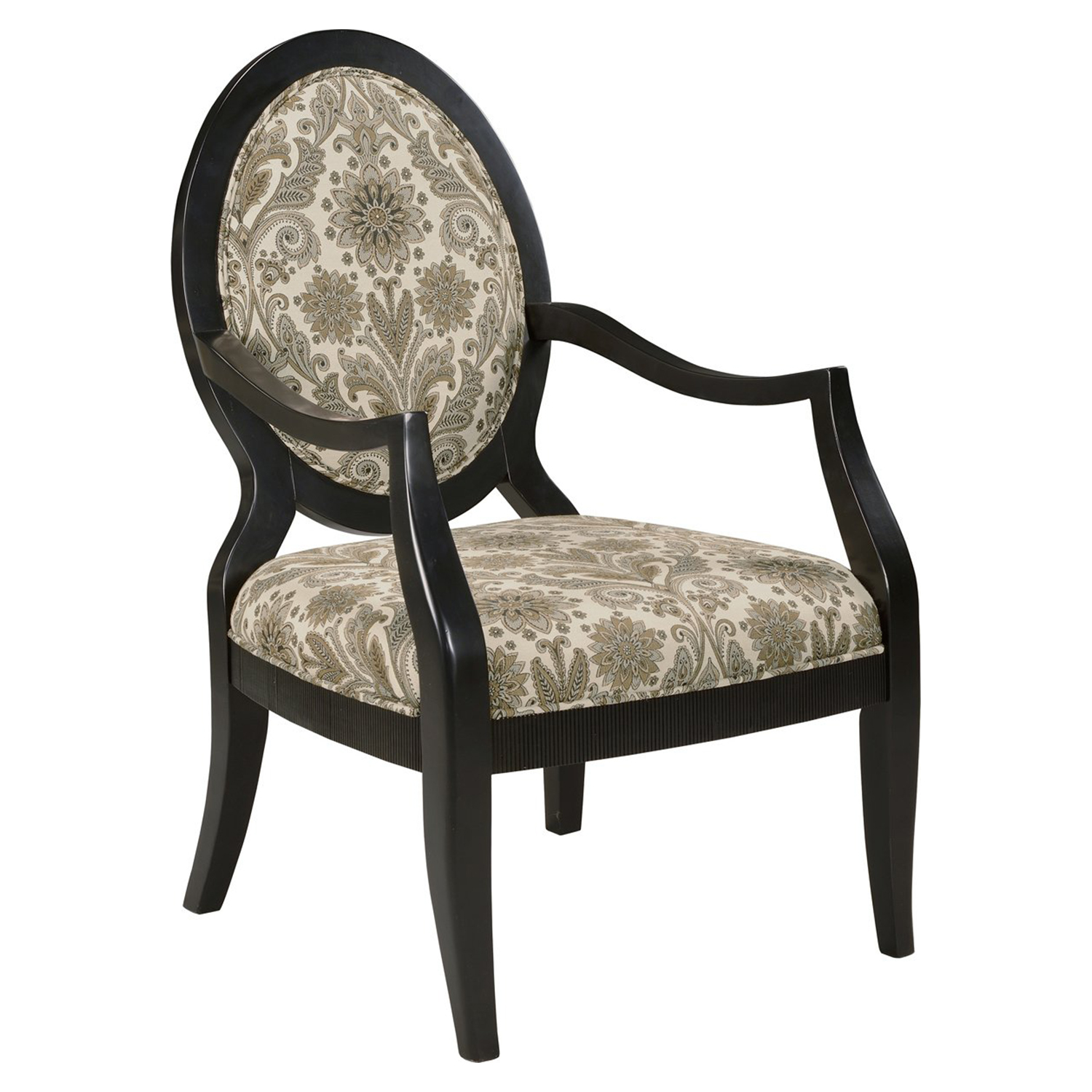 Lynda Accent Chair - Marble, Ebony Frame