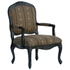 Essex Black Wood Accent Chair with Chenille Upholstery - CP-143-02