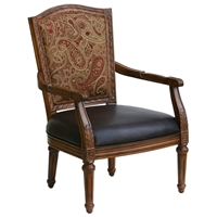 Kent Accent Chair in Cherry Finish