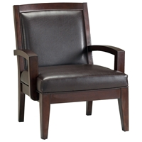 Fowler Merlot Finished Wood Lounge Chair