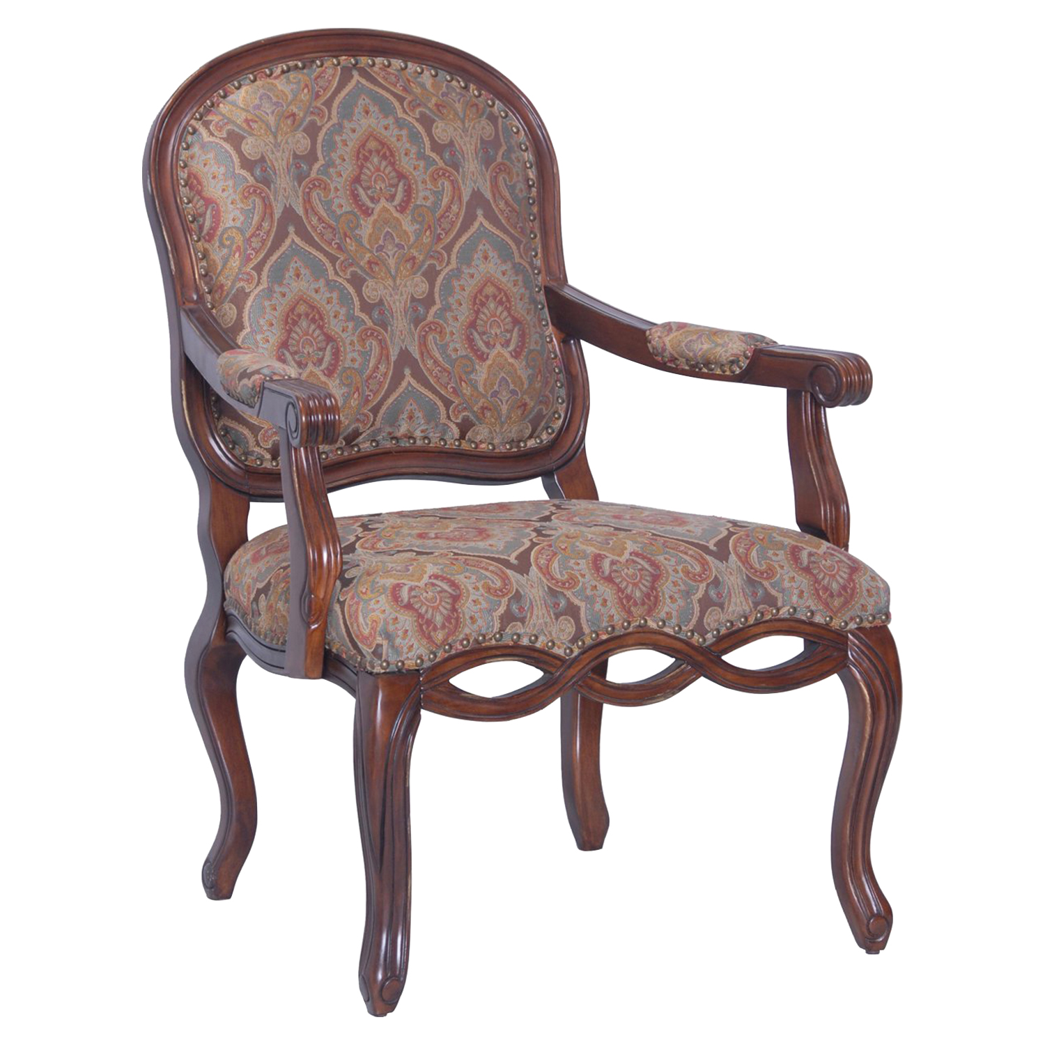 Harvard Carved Chair - Dark Pecan