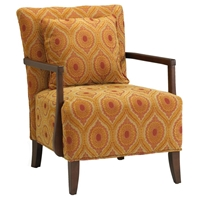 Dante Medallion Paisley Chenille Accent Chair