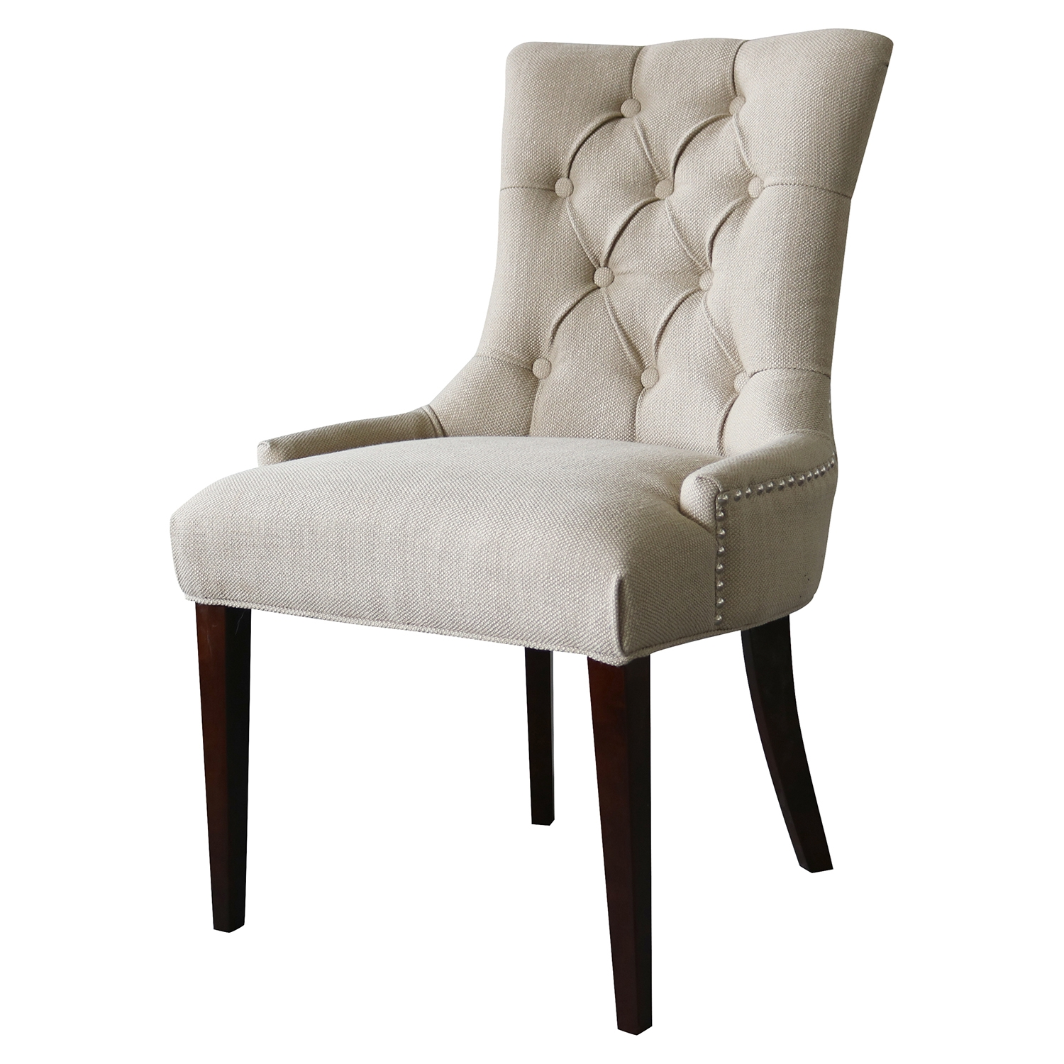 Madelyn Chair - Beige, Button Tufted