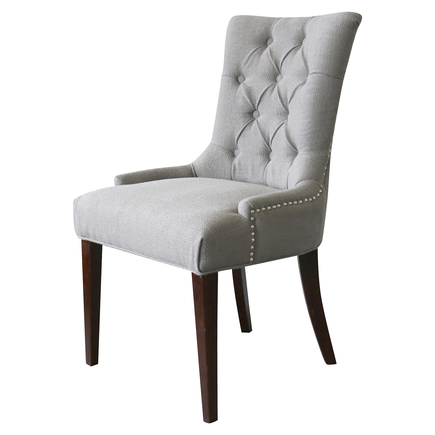 Madelyn Chair - Granite, Button Tufted