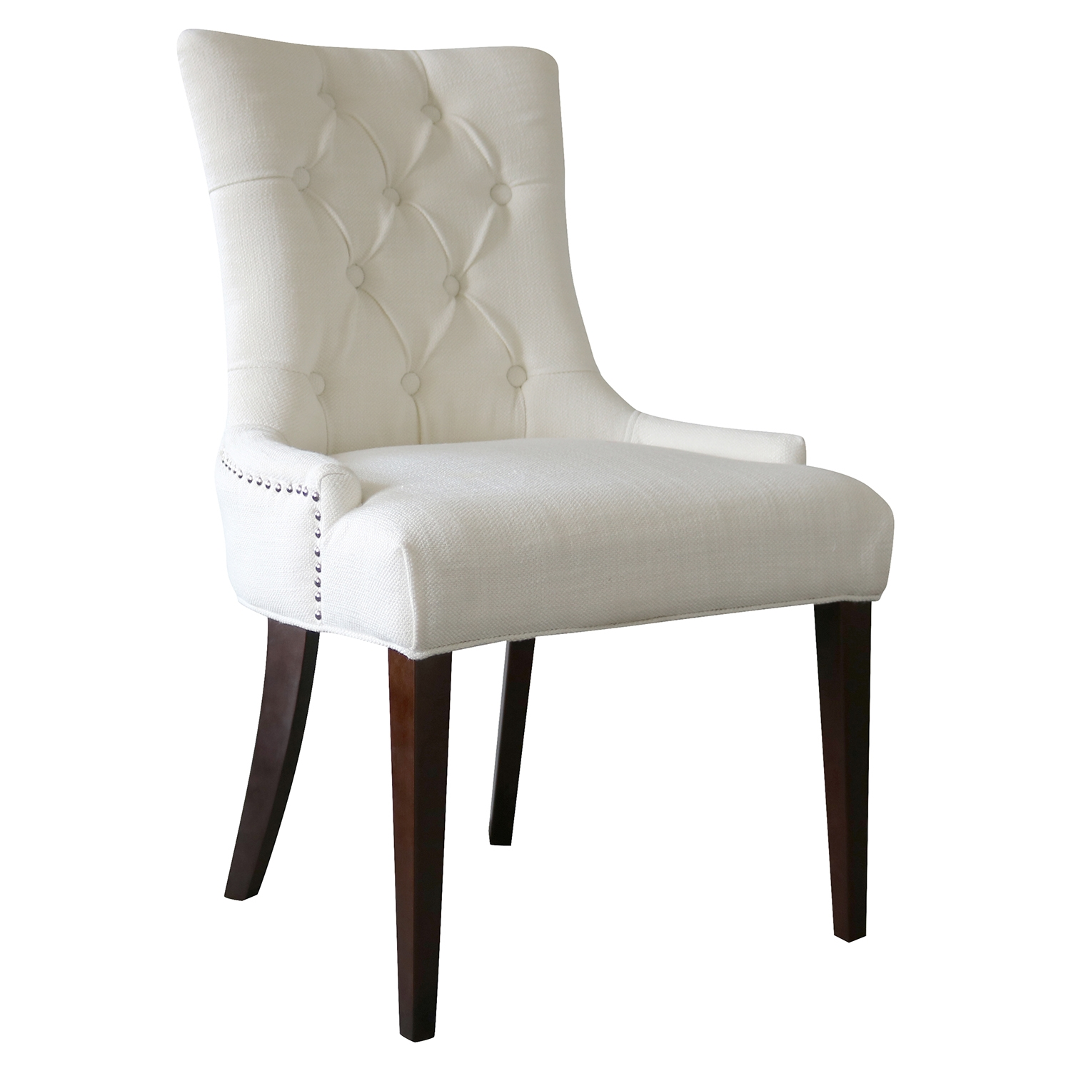 Madelyn Chair - Snow, Button Tufted