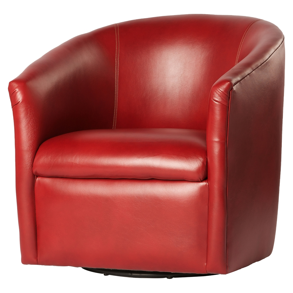 Draper Swivel Chair Red Dcg Stores