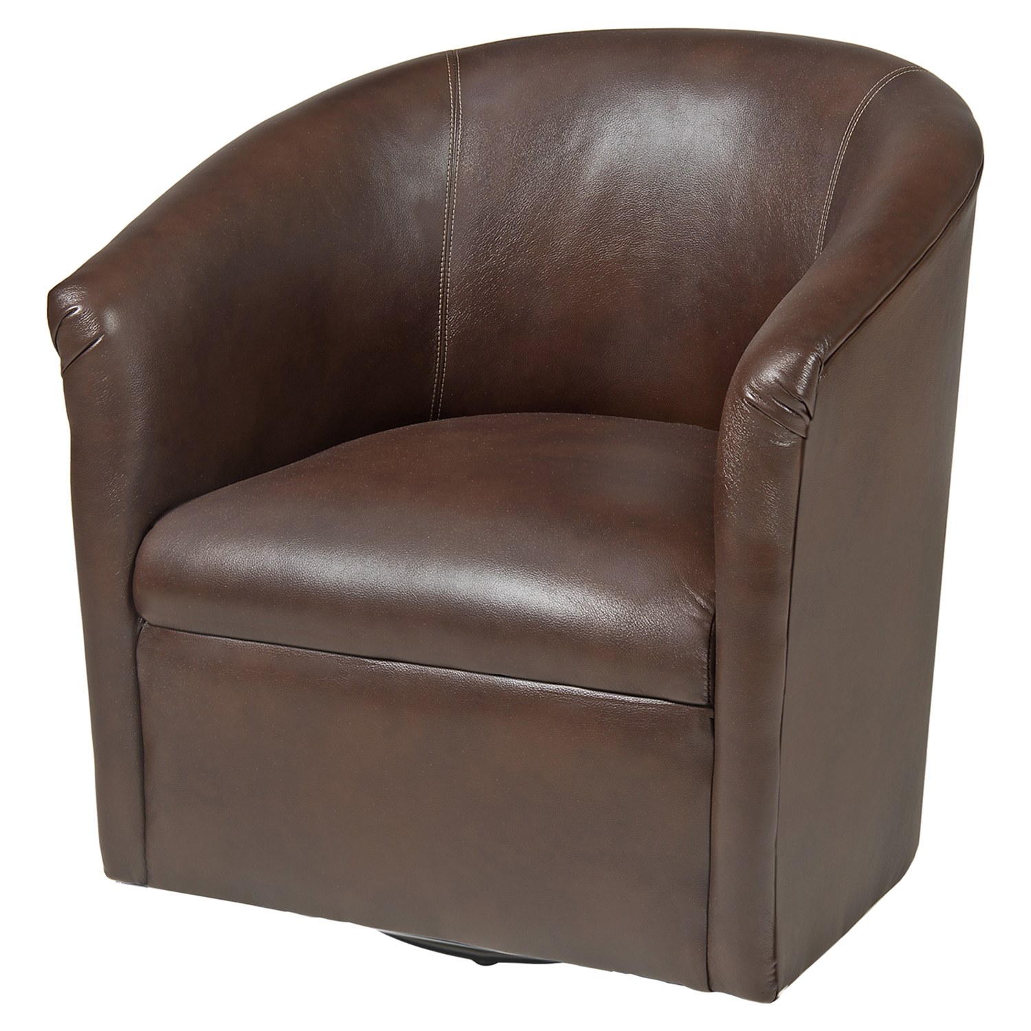 Draper Swivel Chair - Chocolate