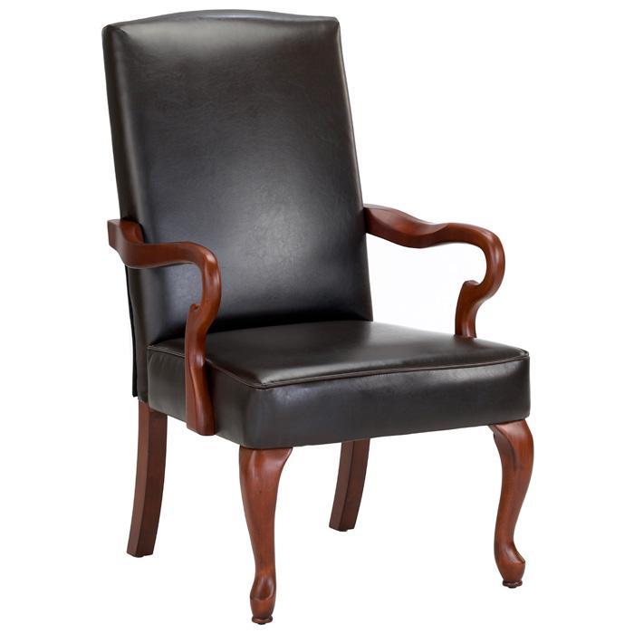 Derby Dark Brown Leather Accent Chair Dcg Stores