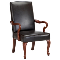 Derby Dark Brown Leather Accent Chair