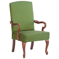 Derby Green High Back Accent Chair