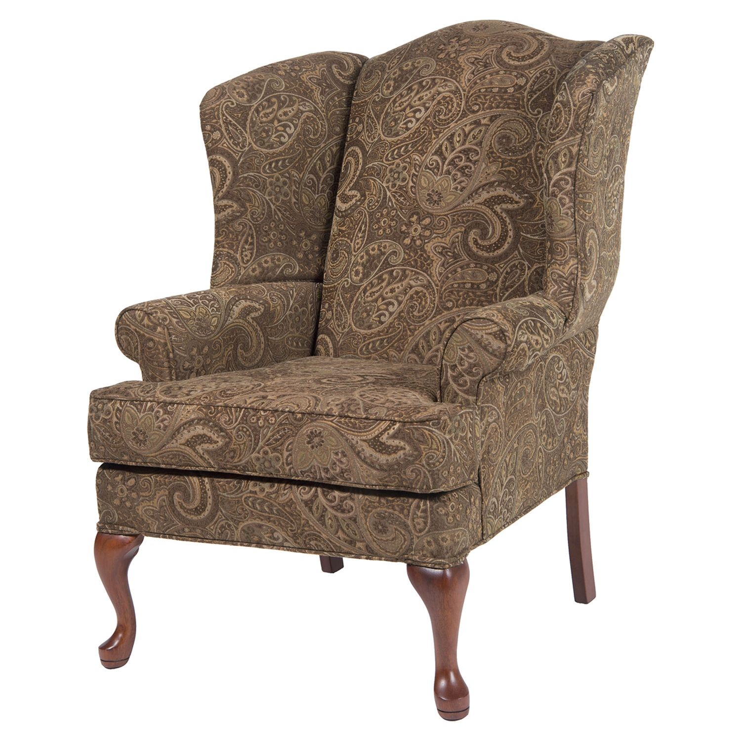 Paisley Wingback Chair - Coco, Cherry